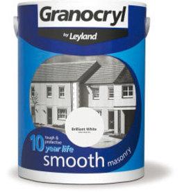 PPG COATINGS UK LIMITED Smooth Masonry 5L Brilliant White