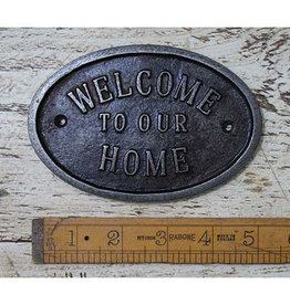 Cottingham Collection Welcome To Our Home' Cast Iron Plaque