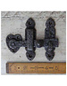 Cottingham Collection Heart Shaped Gate Latch Hand Forged in Cast Iron