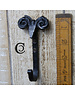 Cottingham Collection Cast Iron 'Sheep' Scroll Hook Black Waxed