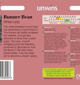 Unwins Runner Bean - White Lady