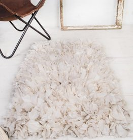 Ian Snow White Shaggy Rug