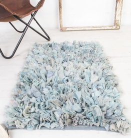 Ian Snow Blue Shaggy Rug