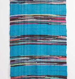Ian Snow Mexican Rag Rug Turquoise