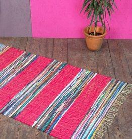 Ian Snow Mexican Rag Rug pink