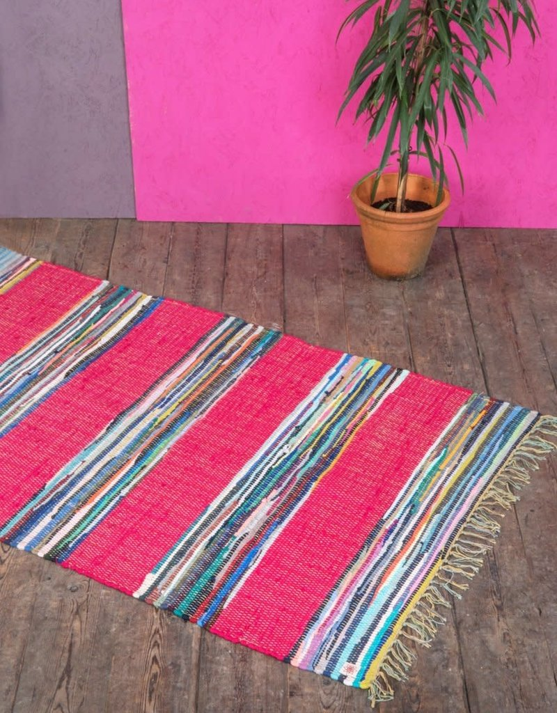 Mexican Rag Rug pink - Clock's Home and