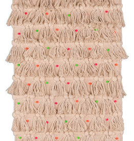 Ian Snow Natural Wall Hanging With Multi Coloured Pom Poms