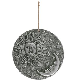 Moon and Sun Silver Plaque