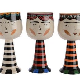 KaemingkS9 Doll Planters StripesTall 9x19.5cm three different designs