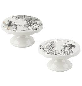 Creative Alice In Wonderland - Set of 2 Mini Cake Pedestals