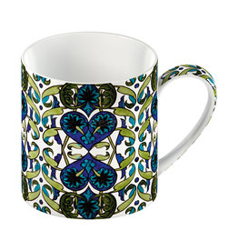 Creative Victoria and Albert Arts And Crafts Painted Tile Mug
