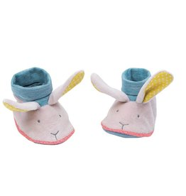 Moulin Roty Mademoiselle et Ribambelle Baby slippers - rabbit
