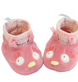 Moulin Roty Mademoiselle et Ribambelle Baby slippers - Owl