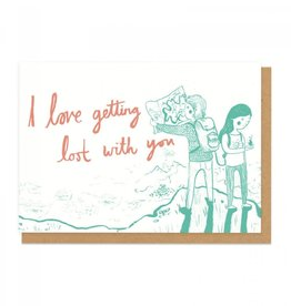 Ohh Deer Lost With You Greeting Card