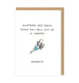 Ohh Deer Fell Out Of A Vagina Greeting Card