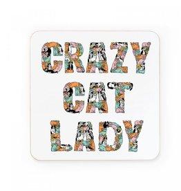 Ohh Deer Crazy Cat Lady Coaster