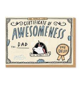 Ohh Deer Dads Certificate of Awsomeness Greetings Card
