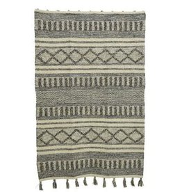 KaemingkS9 Cotton Jute Rug Grey 180x120cm