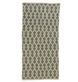 KaemingkS9 Cotton Runner Rug Blue 140x75cm