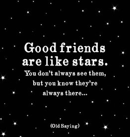 Quote Quotable Stickers - Good friends are like stars