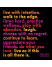Quoteable Quotable Stickers - Live with intention.