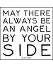 Quoteable Card & Envelope - May there always be an angel by your side