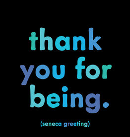 Quote Card & envelope - Thank you for being.