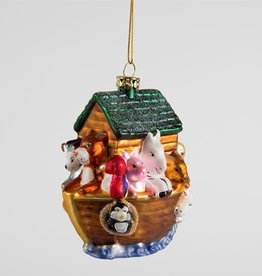 sass & belle Noah's Ark Bauble - glass hanging decoration