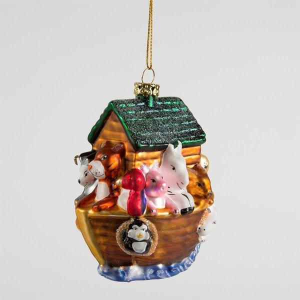 Sass & Belle Noah's Ark Bauble - glass hanging decoration