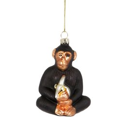 sass & belle Monkey With Banana Bauble