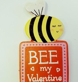 sass & belle Bee my valentine fridge magnet