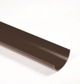 Polypipe 112mm Black Round Guttering 4m
