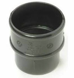 Polypipe 68mm Black Round Pipe Connector