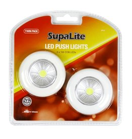 SupaLite LED Push Light Twin Pack