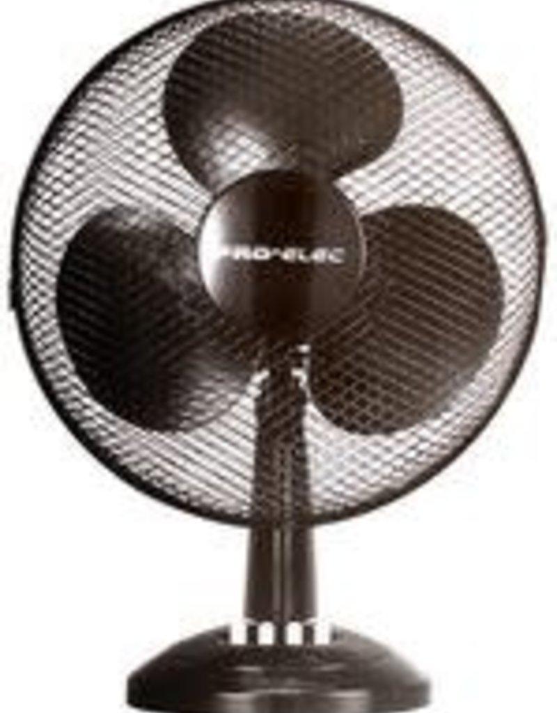 """Pro-Elec Desk Fan 16"""" Black"""