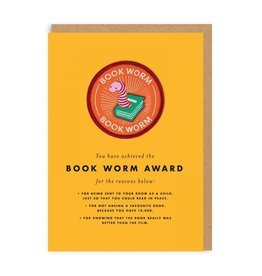 Ohh Deer Book Worm card