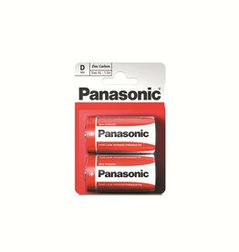 Panasonic Batteries Zinc Carbon D Size 2 Pack