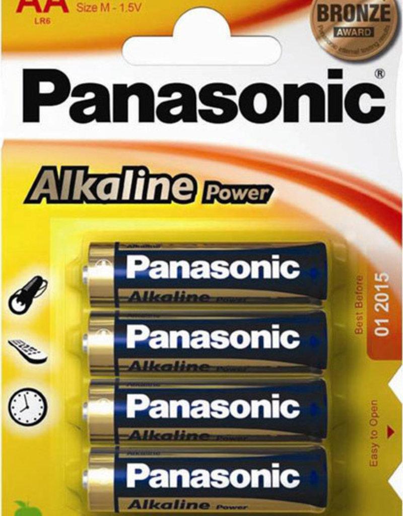 Panasonic Batteries Alkaline Power AA 4 Pack