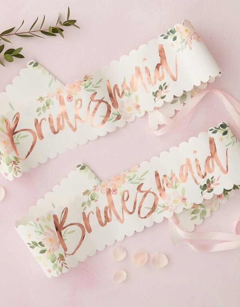 ginger ray Bridesmaid Hen Party Sashes