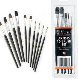 Harris Taskmasters Artists Brush Set 10 Pack