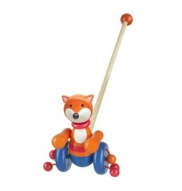 Orange Tree Fox Push Along