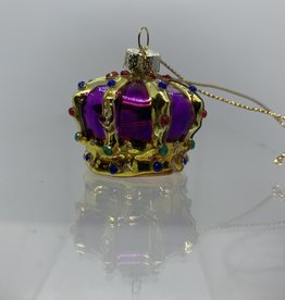 sass & belle Purple Crown glass Bauble
