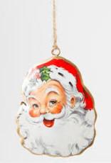 CGB Santa Head metal hanging decoration/bauble