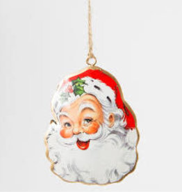 CGB Santa Head metal hanging decoration/bauble