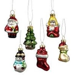 sass & belle Mini christmas characters hanging glass ecorations