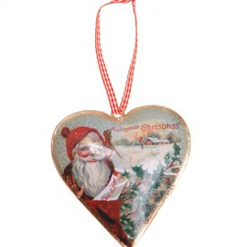sass & belle Retro santa metal hanging decoration