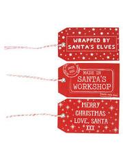 Sass & Belle Santas workshop gift tags