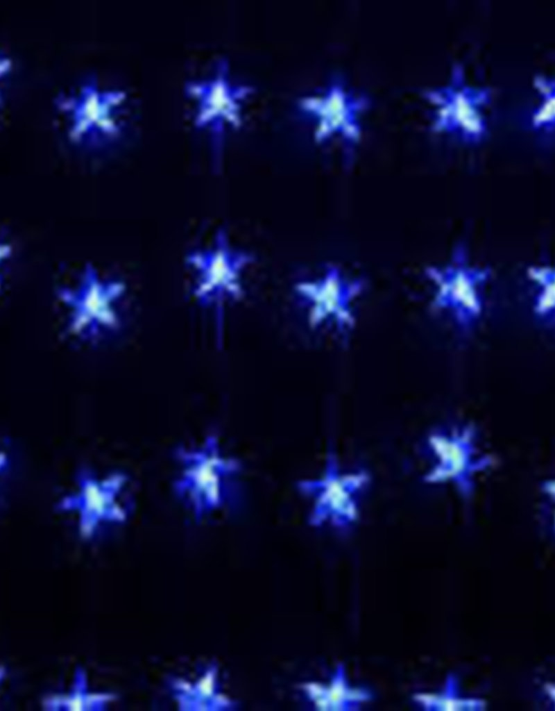 Snowtime Star curtain light 24 LEDs blue indoor/outdoor