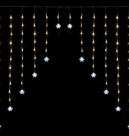 Snowtime Snowflake Curtain Light Ice White