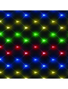 Snowtime Chasing Net Lights Multi Coloured
